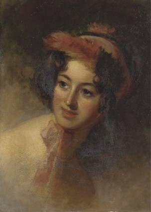 Blanch with Red Feather, Thomas Sully's daughter